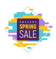 dynamic pixel spring sale template vector image vector image