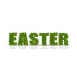 easter green grass sign realistic isolated vector image