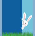 easter greeting card concept with text cute bunny vector image vector image