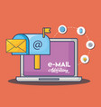 email advertising design vector image vector image