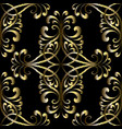 embroidery gold vintage seamless pattern vector image vector image