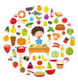 food concept design vector image