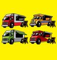 food truck set vector image vector image