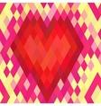Geometric heart seamless pattern vector image vector image