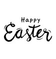hand draw happy easter text vector image