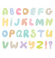 hand drawn abc set isolated on white background vector image vector image