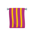 hand towel icon flat style vector image vector image