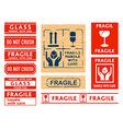 handle with care stickers vector image