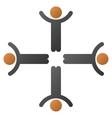 Hands Up Men Gradient Icon vector image vector image