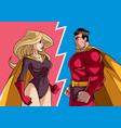 hero versus heroine vector image vector image