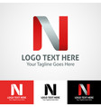hi-tech trendy initial icon logo n vector image