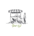 ice cream car child truck sweet concept vector image