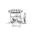 ice cream car child truck sweet concept vector image