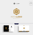 initial l luxury logo template and business card vector image vector image