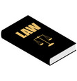 justice and constitucional concept law book with vector image
