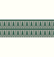 knitted seamless color christmas pattern vector image vector image