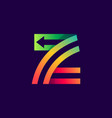 letter z logo with arrow inside vector image vector image