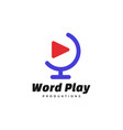 logo world play simple mascot style vector image