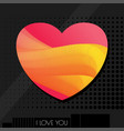 love abstract card pink vector image vector image