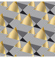 luxury gold and black geometric seamless pattern vector image vector image
