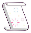 magic scroll icon cartoon style vector image
