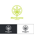 marijuana medical logo vector image vector image