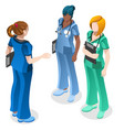 medical nurse education doctor training isometric vector image