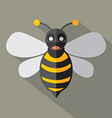 Modern Flat Design Bee Icon