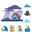 natural and disaster symbol vector image vector image