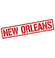 New Orleans red square stamp vector image vector image