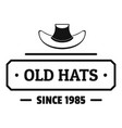 old hat logo simple black style vector image vector image
