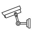 parking security camera icon outline style vector image vector image