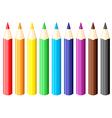 pencil set vector image vector image