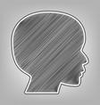 people head sign pencil sketch imitation vector image