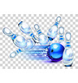 playing a blue bowling game vector image