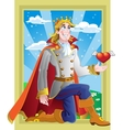 prince charming ask princess hand in marriage on vector image vector image