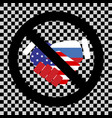 prohibition of cooperation america and russia vector image vector image