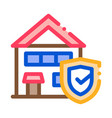 protective house from rat icon outline vector image