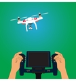 Quadcopter and remote control vector image vector image
