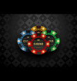 red green blue yellow casino poker chip vector image vector image