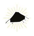 retro tent silhouette logo vector image vector image