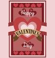 retro valentine card design vector image vector image