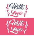 Romantic phrase for Valentine Day vector image