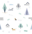 scandinavian pattern with different elements vector image vector image