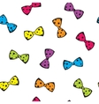 Seamless background with colorful bows vector image vector image