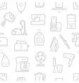 Seamless pattern of home appliances icons vector image vector image