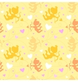 Seamless pattern with cupids vector image vector image