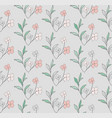 seamless pattern with drawn flowers vector image vector image