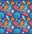 seamless summer beach pattern on colorful vector image