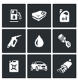 Set of Fuel Icons Petrol station gasoline vector image